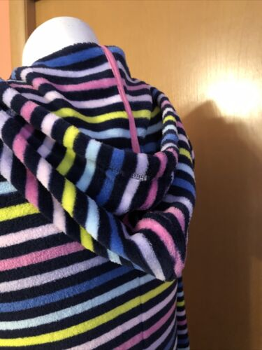 Details about  /Womens So Fleece Pajamas Union Suit Navy Blue Pink Heart Striped Size Medium New