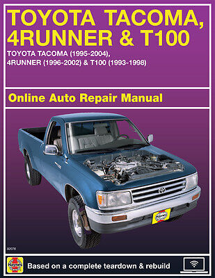 2001 Toyota Tacoma Haynes Online Repair Manual-Select Access