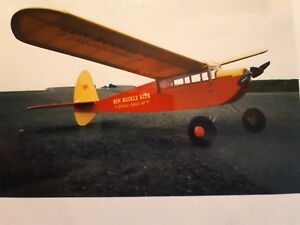 Details about Junior 60 electric plans set r/c balsa built up model