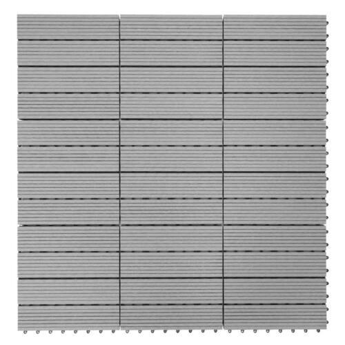 Pavimento Piastrelle Balcone Terrazza Grigio lineare 1qm WPC legno-Piastrelle Sarthe