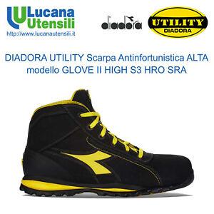 DIADORA-SCARPA-ANTINFORTUNISTICA-GLOVE-II-HIGH-S3-HRO-SRA-Unisex-Lavoro-INVERNO