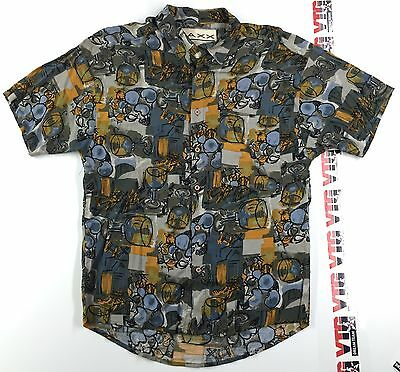 Vintage Maxx Fm 100% RAYON Button Shirt Mens S SMALL 90's Abstract Jazzy Jeff
