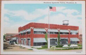 Woodstock-IL-1930s-Postcard-Typewriter-Factory-Illinois-Ill