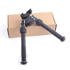 "4.75""-9"" Tactical QD Picatinny RIS Rail Mount Foldable Adjustable Rifle Bipod B"