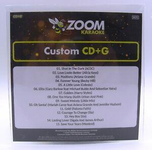 Zoom Karaoke CD+G Disc - Pop Chart Picks 2020 (Part 8) - 15 Big Pop Hits!
