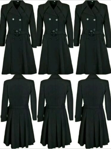 Trench Mac Flare 42 New And Ladies Mac Breasted Nye Coat Flare Trench Fit Double og Brystet Ladies Womens Dobbelte Fit 42 Kvinders RHq1Txw