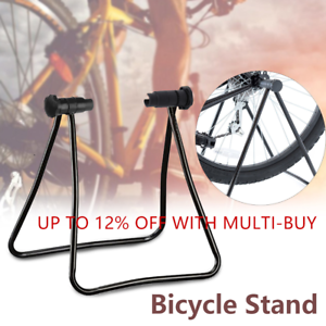 Single Bicycle Stand Garage Storage Rack Tyre Floor Parking Rail Bike Holder A++
