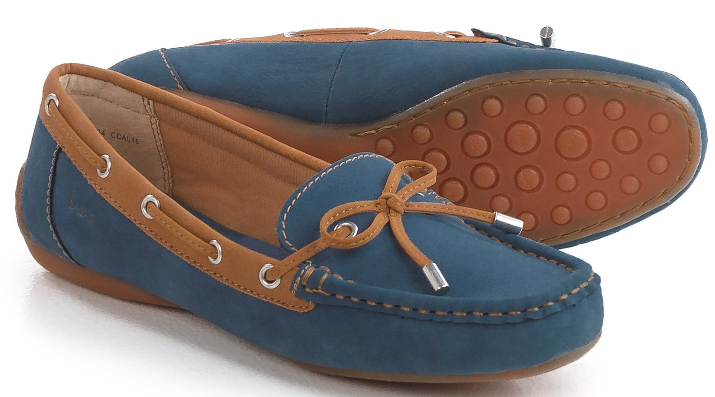 NEW BORN B.O.C ROSTA MOCCASIN chaussures femmes 10 SLIP ON LOAFERS bleu FREE SHIP