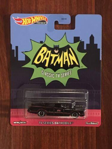 2020 Hot Wheels Premium BATMAN CLASSIC TV SERIES BATMOBILE Real Riders