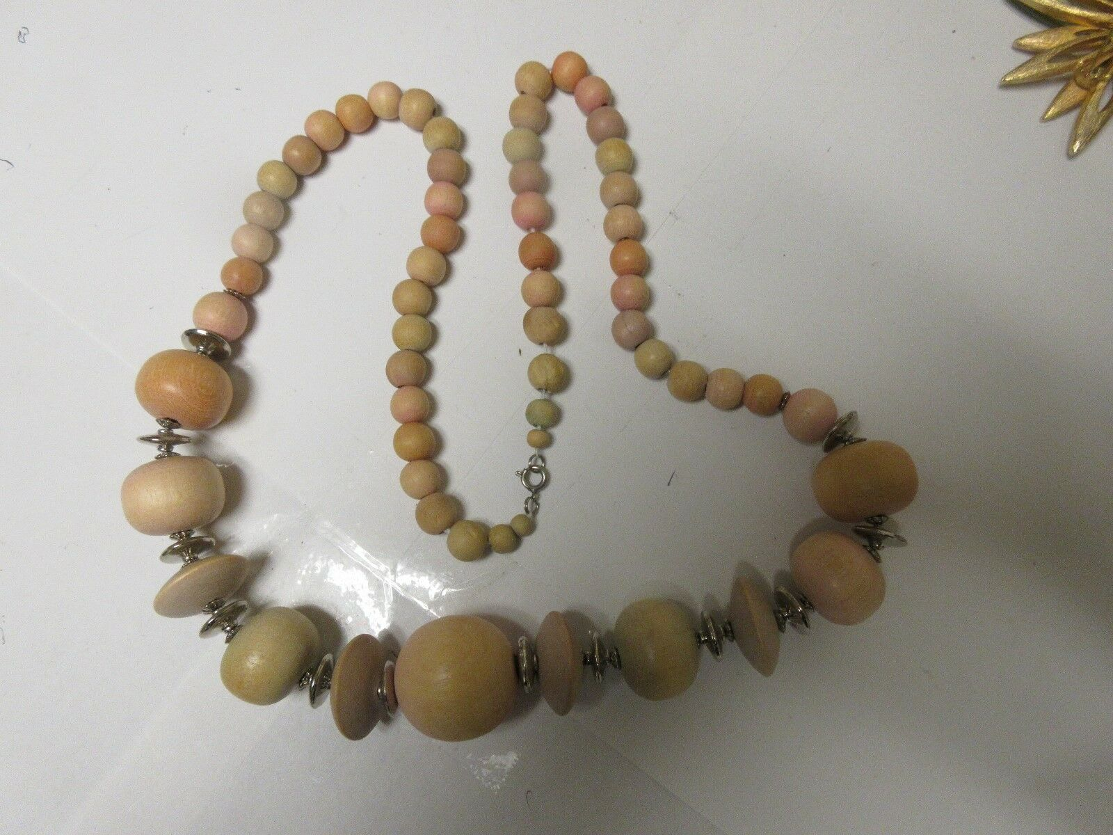 """Costume Jewelry ,Vintage , Necklace , 30"""" , Wood Beads"""