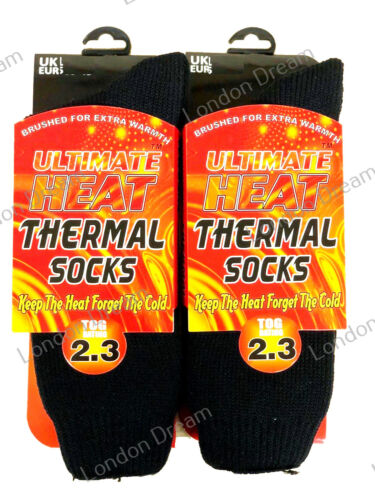 Men`s Women Ladies Thermal Warm Winter Socks Heat Brushed Extra Thick 2.3 TOG