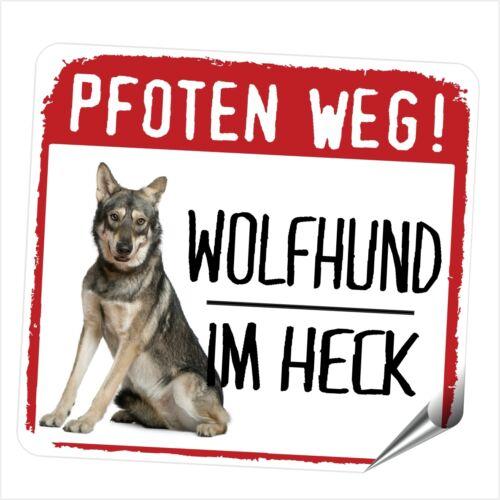 Auto pegatinas reflective lobo perro lobo saarloos zarpas camino perros siviwonder