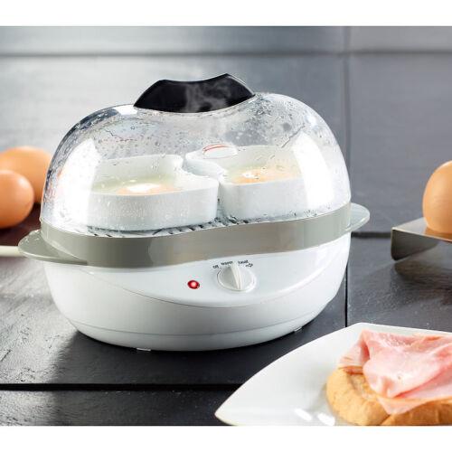 400 Watt 6 Eier oder Rührei 2in1 Eierkocher mit Warmhalte-Funktion