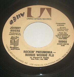 45-RPM-Johnny-Rivers-Come-Home-America-Boogie-Woogie-Flu-1972-UA-Vinyl-50960-VG