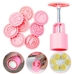 50g-Round-Pastry-Cake-Mold-Cookies-Mooncake-Baking-Mould-8-Pcs-Cartoon-Pattern-S