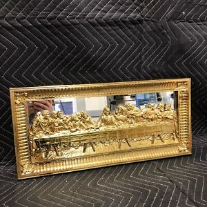 Home-Interiors-LAST-SUPPER-3D-Relief-Wall-Art-Plaque-amp-Mirror-Syroco-552