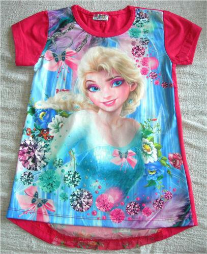 Maglia bambina Decoro Dietro T-shirt Short Sleeves Anna e Elsa TT003-4 Frozen