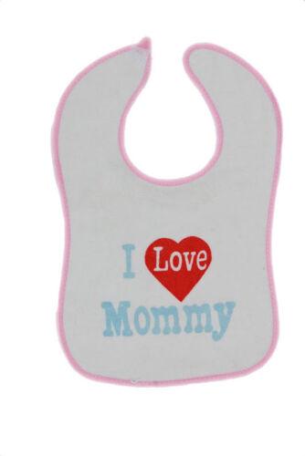 7 Days Animals Pattern I love Mommy New Born baby Bibs I love Daddy