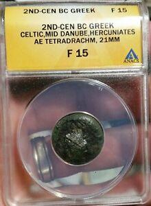 Münzen Münzen Altertum 2 Century Bc,keltisch,ae Tetradrachme,anacs F-15,winzige Halter Riss An Vorne Angenehm Im Nachgeschmack