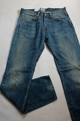 Jeans Edwin Uomo Ed 55 Relaxed Bianco Listed Indigo Medio Setacciata Usato W31 Gradevole Al Gusto