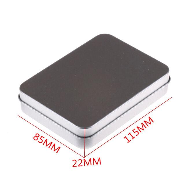 Tin Higen Lid Small Empty Silver Metal Storage Box Case Survival Kit 9C