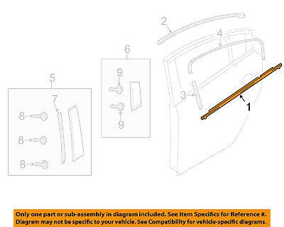 MAZDA OEM 14-15 6 Rear-Window Sweep Belt Felt Molding Left GHK150670E
