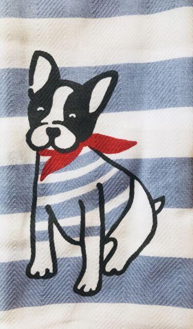 French Bulldog Frenchie Kitchen Towel Set Of 2 Casaba Cute Dog Christmas Cotton