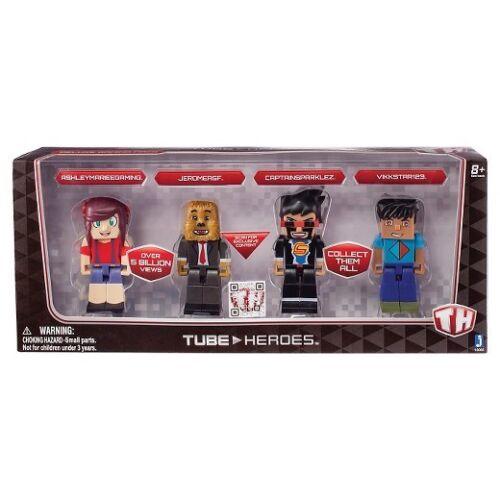 Livraison gratuite! Tube de héros aux joueurs New in Box exclusive captainsparklez Figures Set