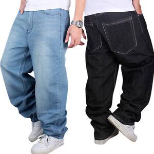 03652398769fb US Men Boys Jeans Baggy Loose Denim Hip-Hop Skateboard Pants ...