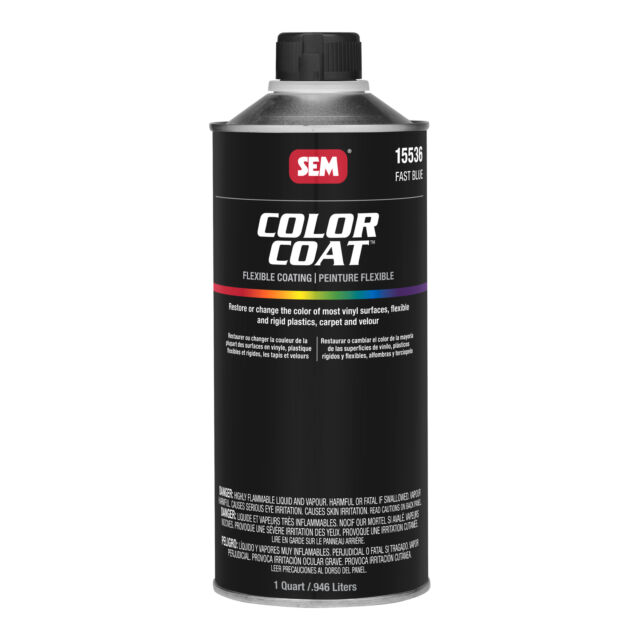 SEM 15536 Color Coat Fast Blue Flexible Interior Paint Quart