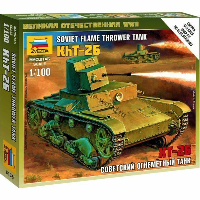 Zvezda 6165 Soviet Flamethrower Tank KhT-26  1//100