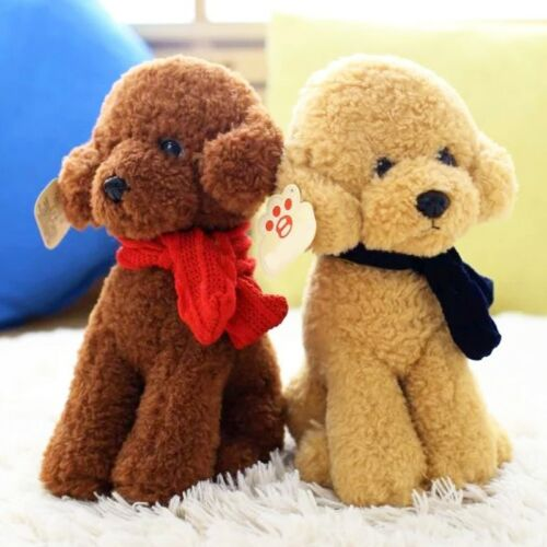 plush toy stuffed doll animal emulational dog poodle teddy puppy dress scarf 1pc