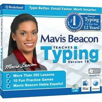 Mavis Beacon Teaches Typing 18 For Windows Pc & Mac - Keyboard Software -