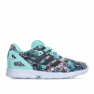 super cute size 40 factory authentic Details about Children Girls adidas Originals Zx Flux Trainers In Mint-  Lace Fastening-