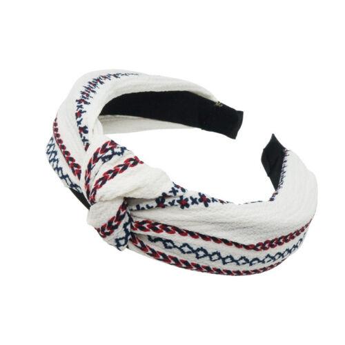 Women Knot Hairbands Headbands Girl Floral Print Wide Hair Band Hair Accessories
