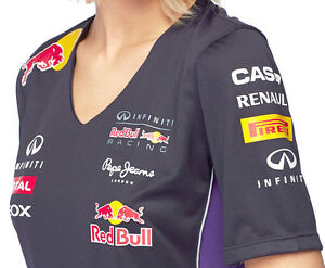 authentic infiniti red bull racing f1 team 2014 womens v. Black Bedroom Furniture Sets. Home Design Ideas