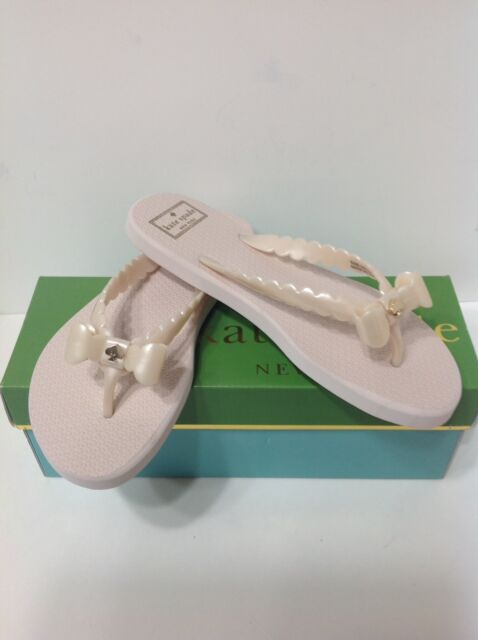 9ae909882cb1 Kate Spade S182247 Denise Light Pink Rose Dew Pearlized Rubber Bow Flip  Flop 7