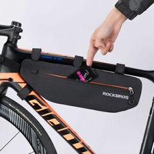 RockBros Waterproof Bag Triangle Capacity Cycling Tube Frame Bag Black Gold 8L