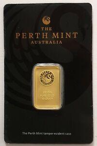 Perth Mint Australia 10g 99.99 Pure Gold Bar Sealed in Tamper Evident Case