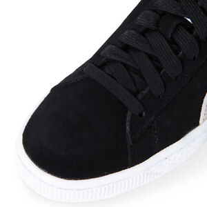 PUMA Suede Classic Lace up Black White Mens Leather Trainers 352634 ... fcd0197c8