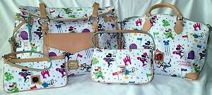 Disney-World-Dooney-amp-Bourke-2015-Marathon-SET-of-4-Smith-Satchel-Lexi-Wristlet