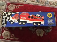 Getty 1995 Limited Edition Toy Race Car Carrier
