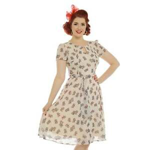 Lindy-Bop-Bretta-Cream-Rockabilly-Pinup-Vintage-Tea-Dress-14-22-Plus-Size