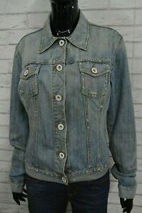 GUESS-Giubbino-Donna-Taglia-XL-Jeans-Giacca-Jacket-Giubbotto-Cotone-Denim-Blu