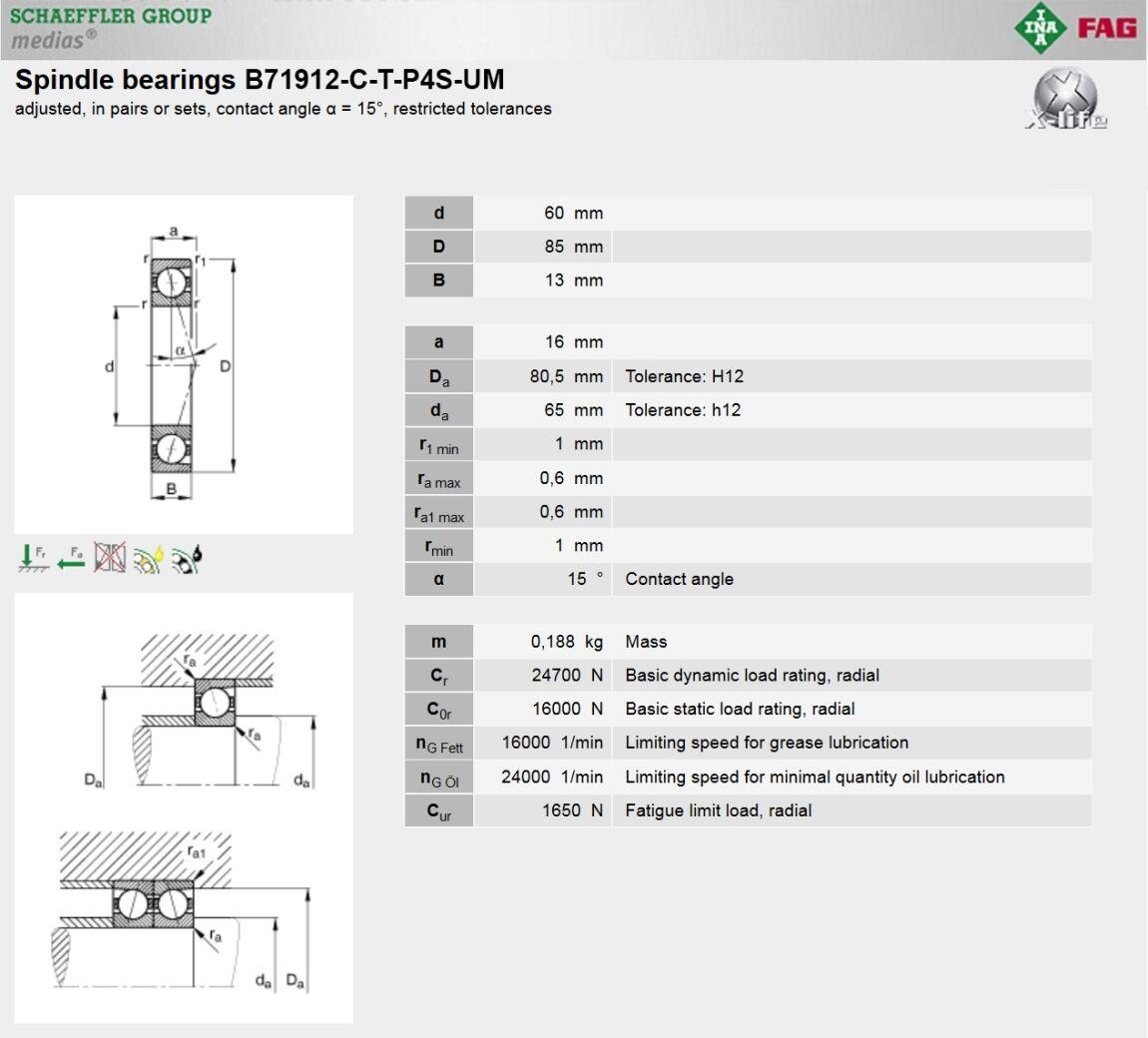 TIMKEN FAFNIR 3MM9107WI DUL FAG B7007EB T P4S UL SUPER PRECISION BEARINGS