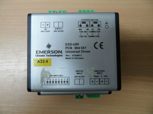 Emerson Alco Schrittmotorsteuerung EXD-U00 Steuerung 24V 4-20mA