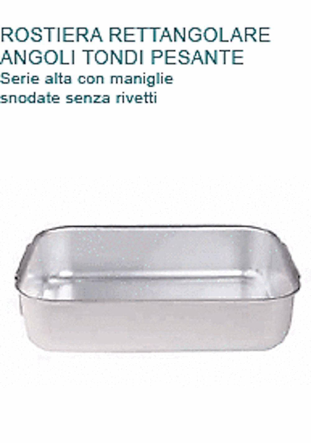 ROSTIERA Alluminio cm45X30X8,5H 1 2 PESO 2MANIGLIE Professionale Pentole Agnelli