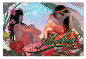 Nostalgic-Aloha-Hawaii-Greetings-Art-Sign