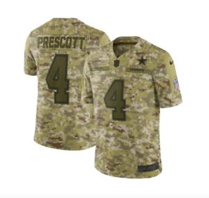 NFL Dallas Cowboys Men s 18 Dak Prescott  4 Nike Camo Slaute to ... e1913b5ec