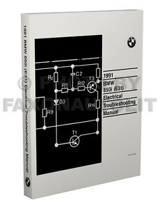 image is loading 1991-bmw-850i-electrical-troubleshooting-manual-wiring- diagram-